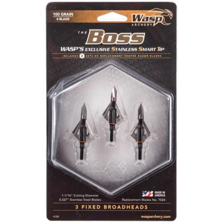 The Boss Fixed Broadheads – 3-Pack,100 Grain