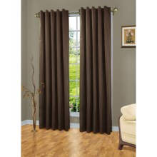 "The Complete Window  4-in-1 Blackout Curtains - 110x84"", Insulated in Brown - Closeouts"