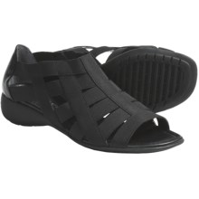 The Flexx Bandini Strappy Stretch Sandals (For Women) in Black - Closeouts