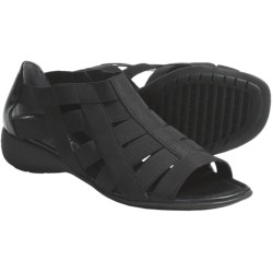 The Flexx Bandini Strappy Stretch Sandals (For Women) in Black