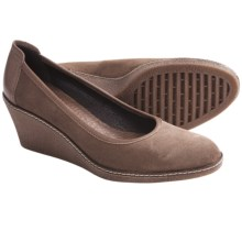 The Flexx Bread-N-Butter Wedge Pumps - Suede (For Women) in Caramella Oily Suede - Closeouts