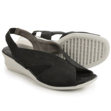 The Flexx Charlee Sling-Back Shoes - Nubuck, Wedge Heel (For Women) in Black Nubuck - Closeouts