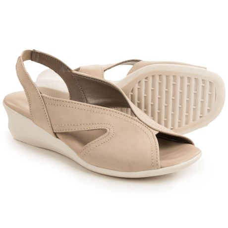 The Flexx Charlee Sling-Back Shoes - Nubuck, Wedge Heel (For Women)