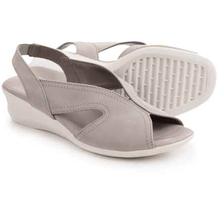 The Flexx Charlee Sling-Back Shoes - Nubuck, Wedge Heel (For Women) in Haze Nubuck - Closeouts