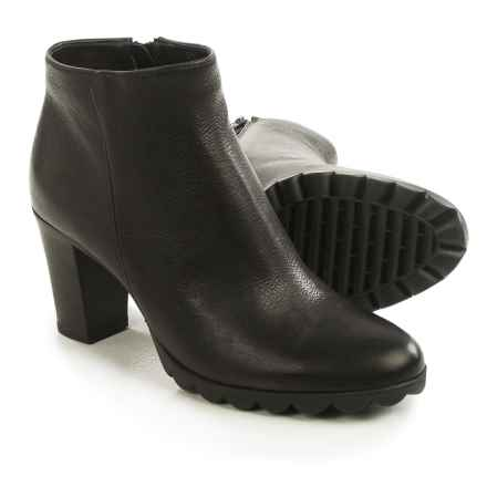 The Flexx Dipsy Ankle Boots - Leather (For Women) in Black/Teak - Closeouts