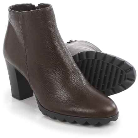 The Flexx Dipsy Ankle Boots - Leather (For Women) in Ebony Saratoga - Closeouts
