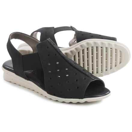 The Flexx Fan Dance Sandals - Nubuck (For Women) in Black Nubuck - Closeouts