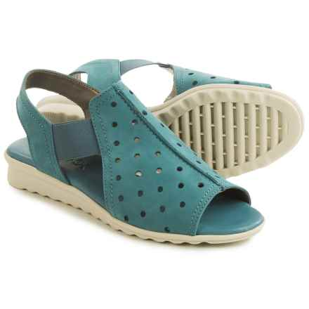 The Flexx Fan Dance Sandals - Nubuck (For Women) in Petroleum Nubuck - Closeouts