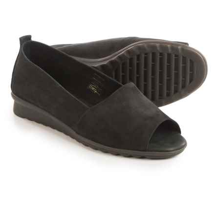 The Flexx Fantastic Shoes - Nubuck, Slip-Ons (For Women) in Black Nubuck - Closeouts