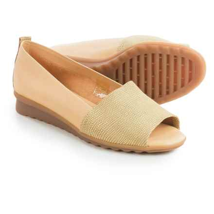The Flexx Fantastic Shoes - Nubuck, Slip-Ons (For Women) in Canary Ariel/Elba - Closeouts