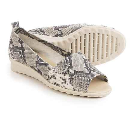 The Flexx Fantastic Shoes - Nubuck, Slip-Ons (For Women) in Roccia Calcutta - Closeouts