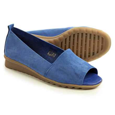 The Flexx Fantastic Shoes - Nubuck, Slip-Ons (For Women) in Royal Nubuck - Closeouts