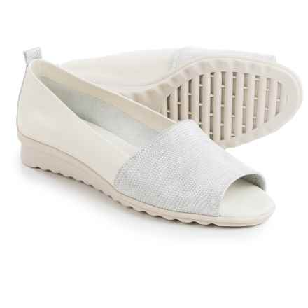 The Flexx Fantastic Shoes - Nubuck, Slip-Ons (For Women) in White Ariel Macchiato/Elba - Closeouts