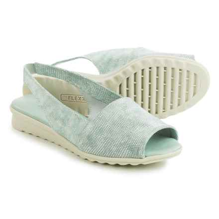 The Flexx Fantazee Sandals - Leather, Mini Wedge Heel (For Women) in Monet Ariel Macchiato - Closeouts