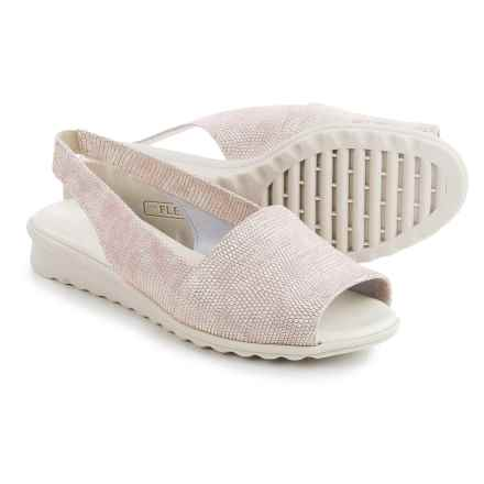The Flexx Fantazee Sandals - Leather, Mini Wedge Heel (For Women) in Pale Ariel Macchiato - Closeouts