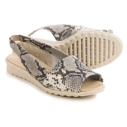 The Flexx Fantazee Sandals - Leather, Mini Wedge Heel (For Women) in Roccia Calcutta - Closeouts
