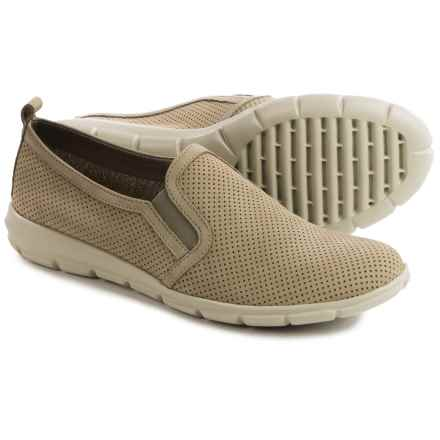 The Flexx Lights Slip-On Sneakers - Nubuck (For Women) in Linen Nubuck Foro - Closeouts