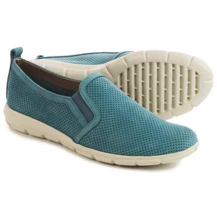 The Flexx Lights Slip-On Sneakers - Nubuck (For Women) in Petroleum Nubuck Foro - Closeouts