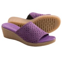 The Flexx Love 'Em Wedge Sandals (For Women) in Eggplant - Closeouts