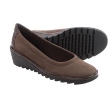 The Flexx Melody Shoes - Leather, Wedge Heel (For Women) in Ebony - Closeouts