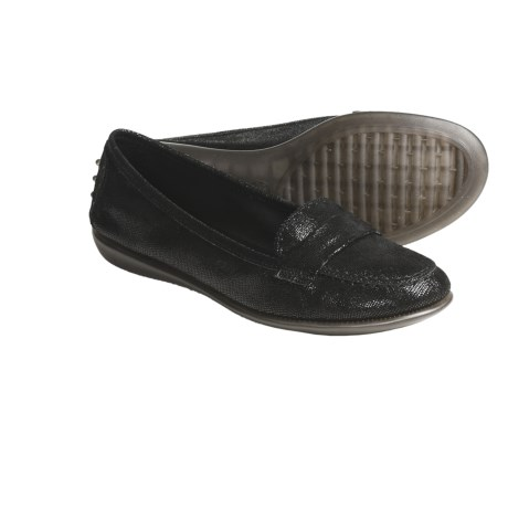 The Flexx Mrs. Robinson Moccasins (For Women) in Black Lizard