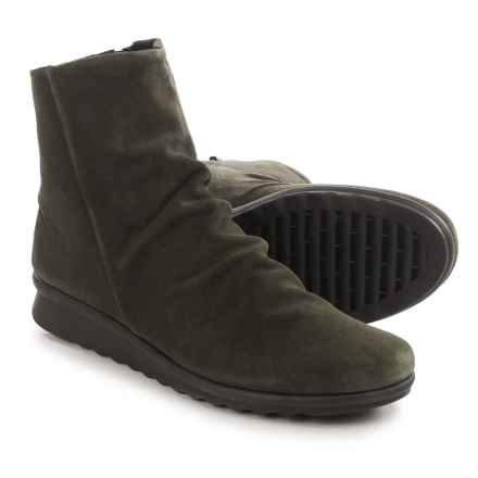 The Flexx Pan Fried Ankle Boots - Suede (For Women) in Army Suede - Closeouts