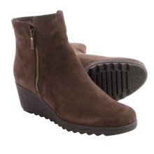 The Flexx Pic A Winner Boots - Nubuck, Wedge Heel (For Women) in Ebony - Closeouts