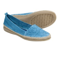 The Flexx Rapid Espadrille Flats - Leather (For Women) in Baltic - Closeouts
