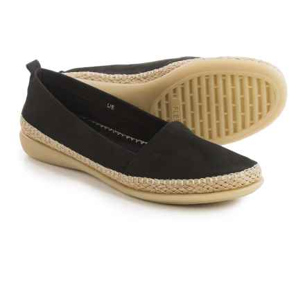 The Flexx Rapid Espadrille Flats - Leather (For Women) in Black Nubuck - Closeouts