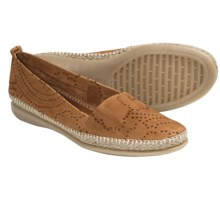 The Flexx Rapid Espadrille Flats - Leather (For Women) in Brandy - Closeouts