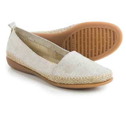 The Flexx Rapid Espadrille Flats - Leather (For Women) in Corda Ariel Macchiato - Closeouts