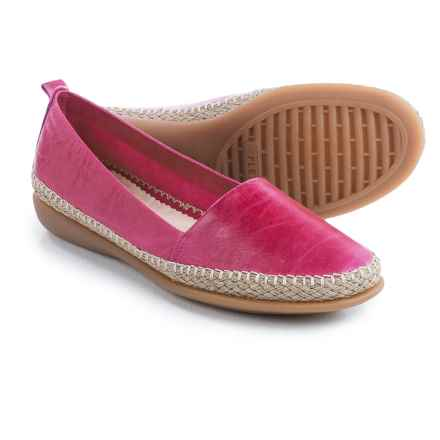 The Flexx Rapid Espadrille Flats - Leather (For Women) in Fushcia Skipper - Closeouts