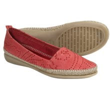 The Flexx Rapid Espadrille Flats - Leather (For Women) in Red - Closeouts