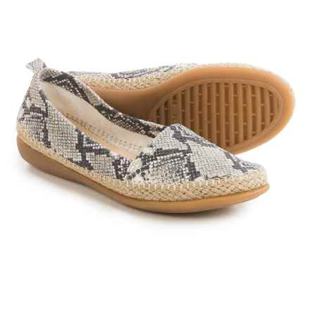 The Flexx Rapid Espadrille Flats - Leather (For Women) in Roccia Calcutta - Closeouts