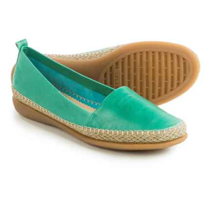 The Flexx Rapid Espadrille Flats - Leather (For Women) in Turquoise Skipper - Closeouts