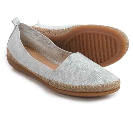 The Flexx Rapid Espadrille Flats - Leather (For Women) in White Ariel Macchiato - Closeouts