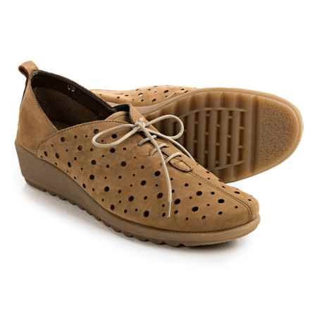 The Flexx Run Crazy Wedge Lace Shoes - Nubuck (For Women) in Tabacco Nubuck - Closeouts
