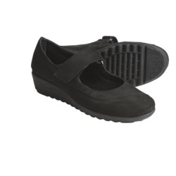 The Flexx Run Over Mary Jane Shoes - Leather (For Women) in Black Capri
