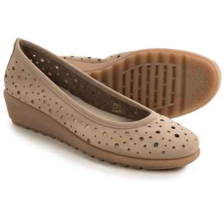 The Flexx Run Perfed Shoes - Nubuck, Slip-Ons (For Women) in Corda Nubuck - Closeouts