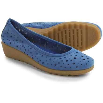 The Flexx Run Perfed Shoes - Nubuck, Slip-Ons (For Women) in Royal Nubuck - Closeouts