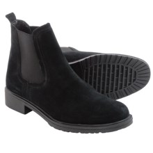 The Flexx Shetland Chelsea Boots - Suede (For Women) in Black Suede - Closeouts