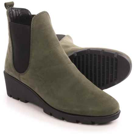 The Flexx Slimmer Chelsea Boots - Suede (For Women) in Army Dakar - Closeouts