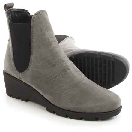The Flexx Slimmer Chelsea Boots - Suede (For Women) in Smoke Dakar - Closeouts