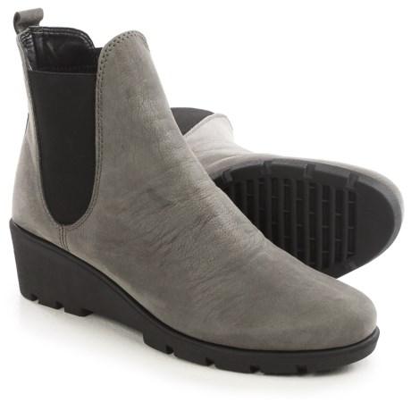 The Flexx Slimmer Chelsea Boots - Suede (For Women) in Smoke Dakar