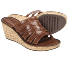 The Flexx Step In Sandals - Wedge Heel (For Women) in Brandy - Closeouts