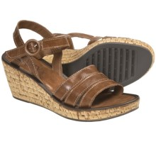 The Flexx Step It Up Wedge Sandals (For Women) in Brandy - Closeouts