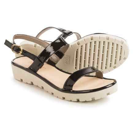The Flexx Sun Tan Strappy Sandals - Leather (For Women) in Black Lapo - Closeouts