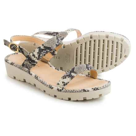 The Flexx Sun Tan Strappy Sandals - Leather (For Women) in Roccia Calcutta - Closeouts