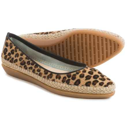 The Flexx Torri Shoes - Leather, Slip-Ons (For Women) in Beige Leopard Cavalino - Closeouts