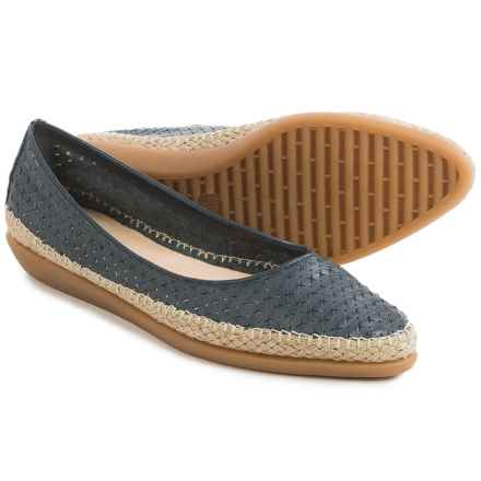 The Flexx Torri Shoes - Leather, Slip-Ons (For Women) in Navy Guanto Stella - Closeouts